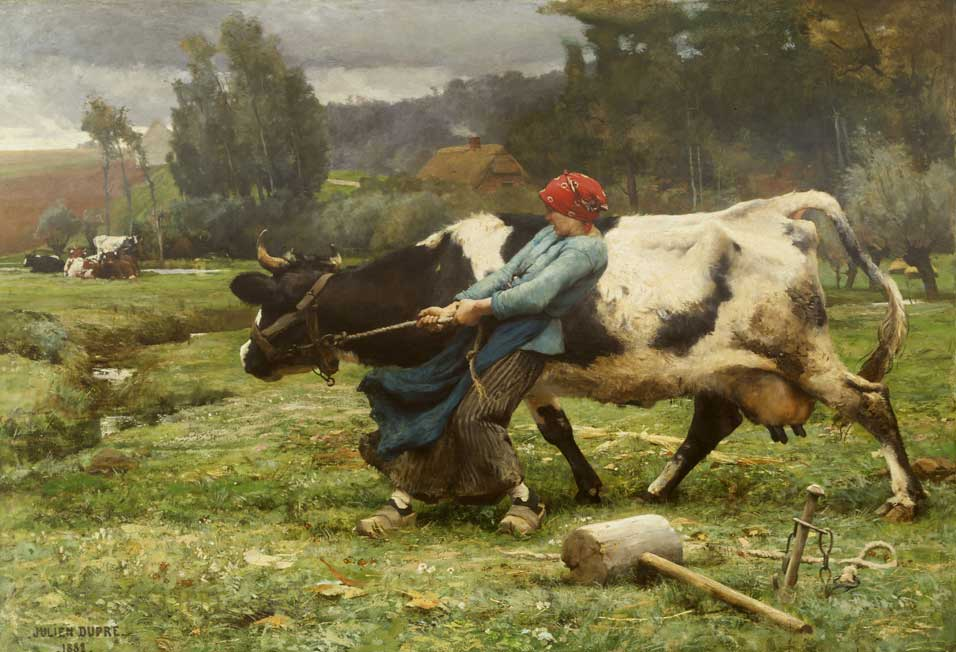 In the Pasture by Julien Dupre (1882)